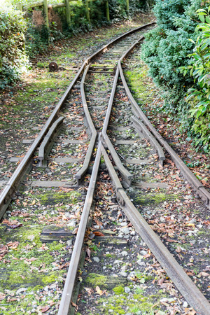 Railway Tracks crossing and going in different directions Stock Photo