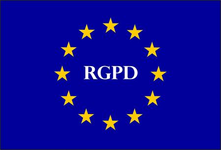 GDPR sign illustration called RGPD in French Reklamní fotografie