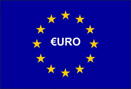 European Union Flag and symbol Euro