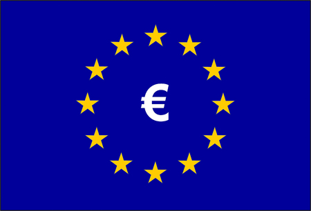 European Union Flag and symbol Euro 版權商用圖片 - 108898986