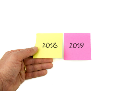Concept for the turn of the year, 2018 2019
