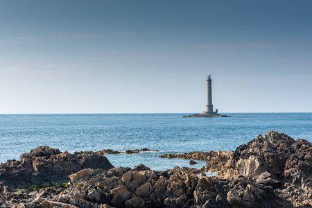 Goury lighthouse, Cap de la Hague, France, Manche