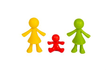 Figures as a symbol for homosexual family concept