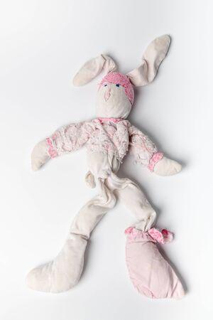 Child comforter used on white background