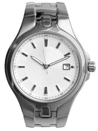 watch: Silver watch Stock Photo