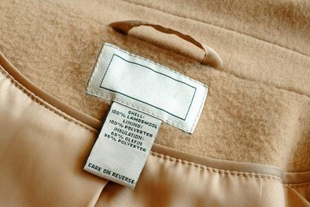 Label inside of wool coat photo