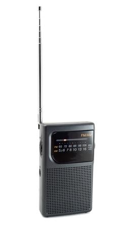 Portable radio isolated on white background photo