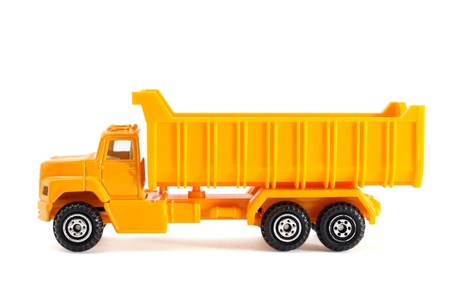 Toy truck isolated on white background Stock Photo - 9342463