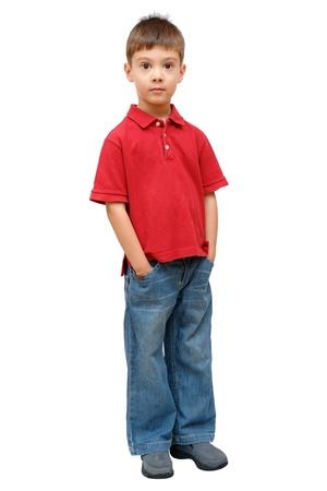 Full-length portrait of little boy