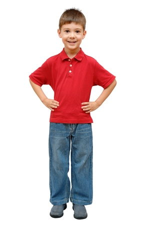 one little boy: Full-length portrait of happy little boy Stock Photo