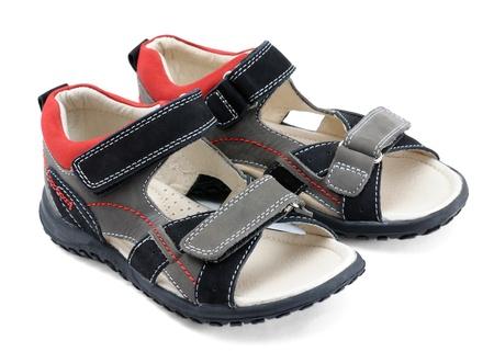 Par de la infancia de zapatos Foto de archivo