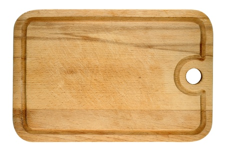 Used wooden cutting board Stock Photo - 9562623
