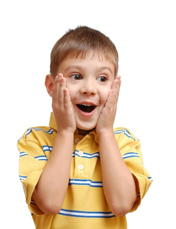 Portrait of surprised child