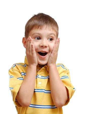 cara sorpresa: Retrato de ni�o sorprendido