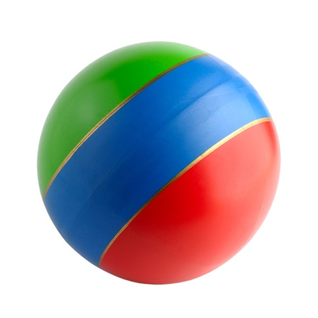 rubber ball: Colourful toy rubber ball isolated on white background
