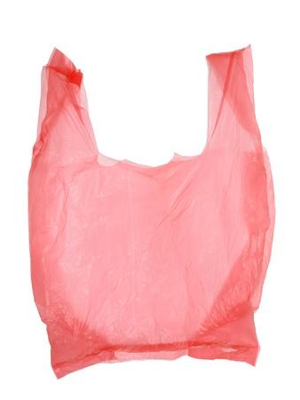 Plastic bag isolated on white background Stock Photo