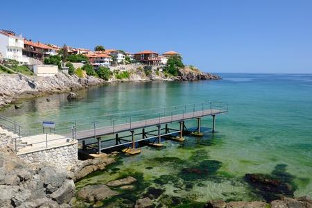 bulgaria: Black Sea coast in ancient town of Sozopol in Bulgaria