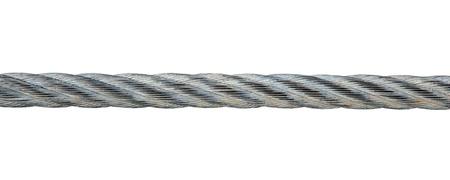 강철: 흰색 배경에 고립 된 금속 밧줄 스톡 사진