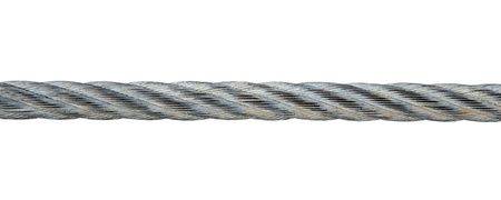 Metal rope isolated on white background Stockfoto