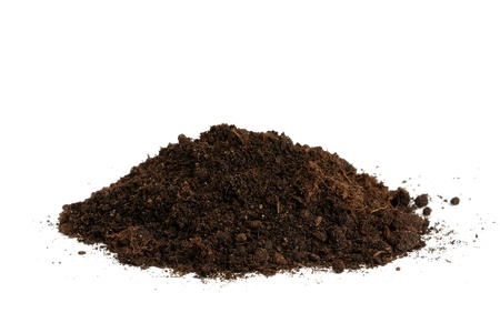 Pile of soil isolated on white background Stock Photo - 11011388