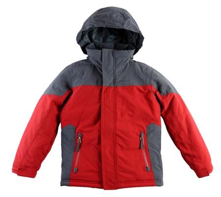 Winter-Jacke isoliert auf wei�em Hintergrund