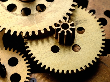 Gears in old clockwork Stock Photo - 11537649