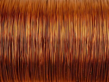 bobina: Antecedentes de alambre de cobre