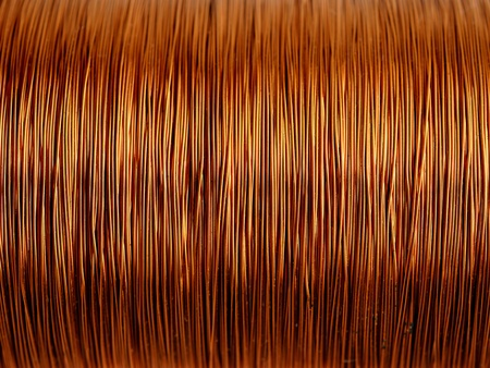 Background of copper wire Stock Photo