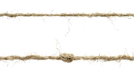 Seil isoliert auf wei�em Hintergrund