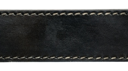 black belt: Black leather belt closeup