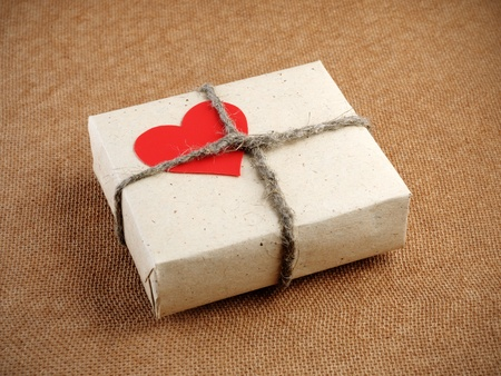 Vintage Valentines Day gift box Stock Photo - 12130164