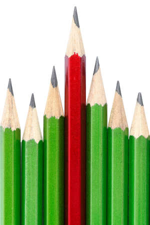 Leadership concept - one pencil stands out from other Stock Photo