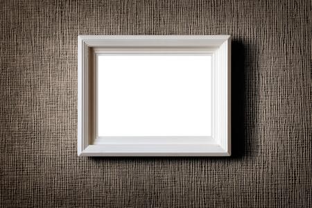 Imagen Viejo marco de madera en la pared de fondo Foto de archivo - 13160711