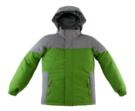 child's: Winter jacket isolated on white background