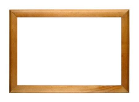 marco madera: Marco de fotos de madera aisladas sobre fondo blanco Foto de archivo