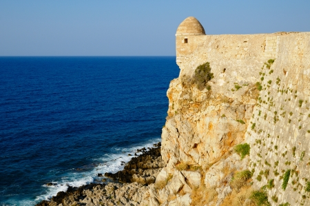 fortezza: Fortress Fortezza in city of Rethymno, Crete, Greece Stock Photo