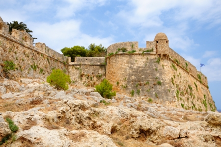 rethymno: Citadel Fortezza in city of Rethymno, Crete, Greece Stock Photo