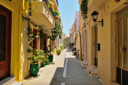 rethymno: Street in city of Rethymno, Crete, Greece