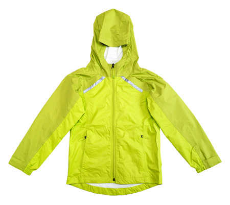 Rain jacket isolated on white background