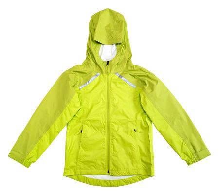 Rain jacket isolated on white background