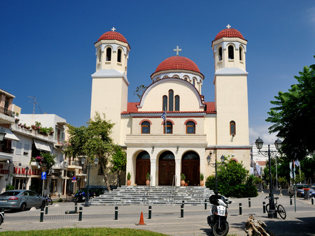 rethymno: RETHYMNO, GREECE - JULY 7  Church of Four Martyrs on July 7, 2013 in city of Rethymno, Crete, Greece  Rethymno is the third largest city in Crete and the capital of regional unit  Editorial