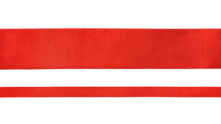 red abstract backgrounds: Red ribbons isolated on white background Stock Photo
