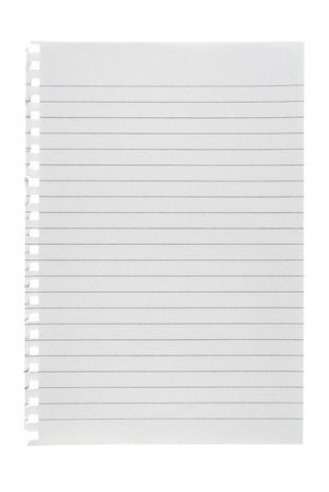 lined: Lined paper isolated on white background