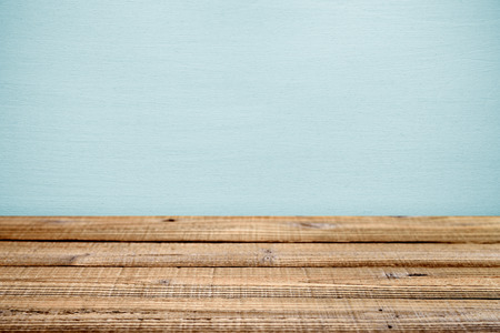 Old wooden table near wall. Shallow depth of field 写真素材