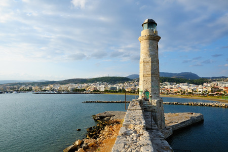 rethymno: Old lighthouse in city of Rethymno, Crete, Greece