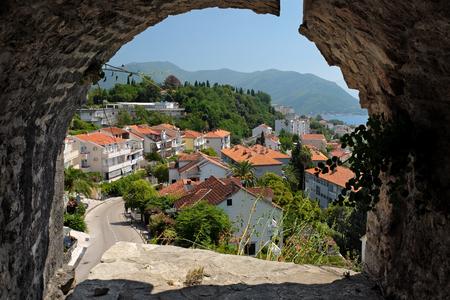 roof windows: View town Herceg Novi from fortress Kanli Kula, Montenegro