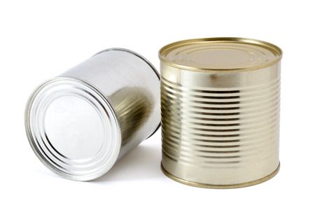 tin cans: Tin cans on white background