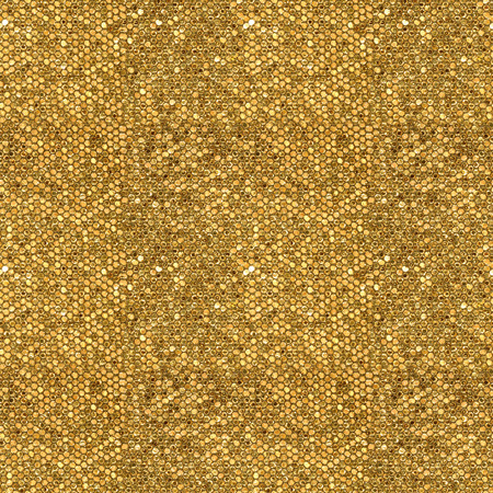 golden texture: Seamless pattern of golden mosaic