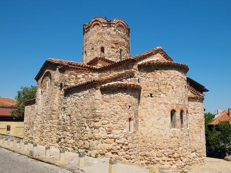 Church of Saint John the Baptist in old town of Nessebar, Bulgaria Stock Photo