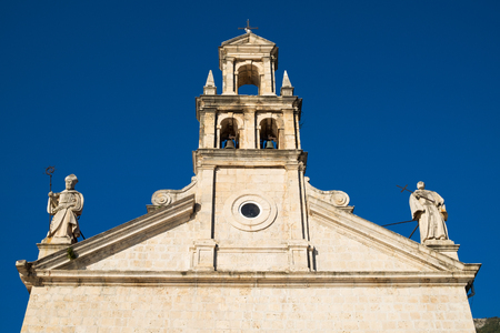 Fragment Of St Nikola Church In Town Prcanj Kotor Bay Montenegro